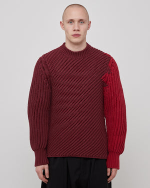 Bias Crewneck in Deep Red