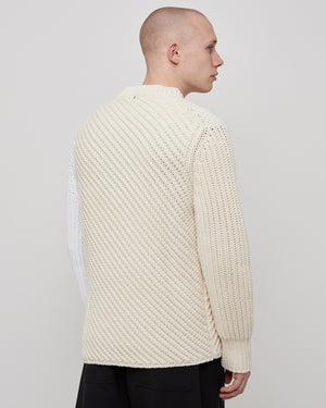 Bias Crewneck in Natural