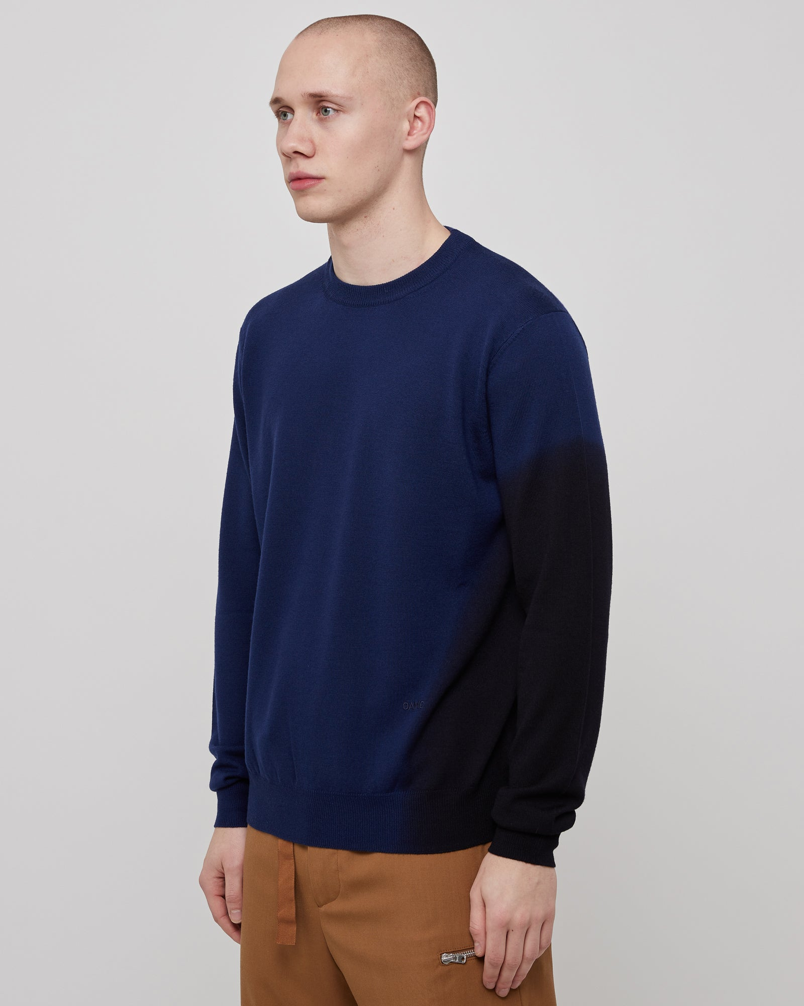 Gradient Crewneck in Factory Blue