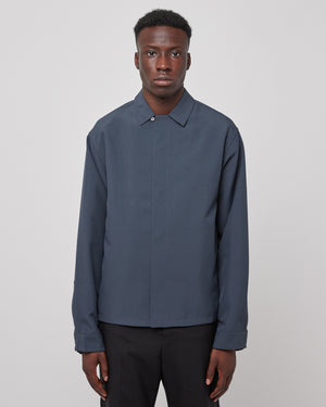 System Shirt in Charcoal Blue