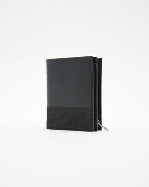 System Zip Wallet in Petrol & Black