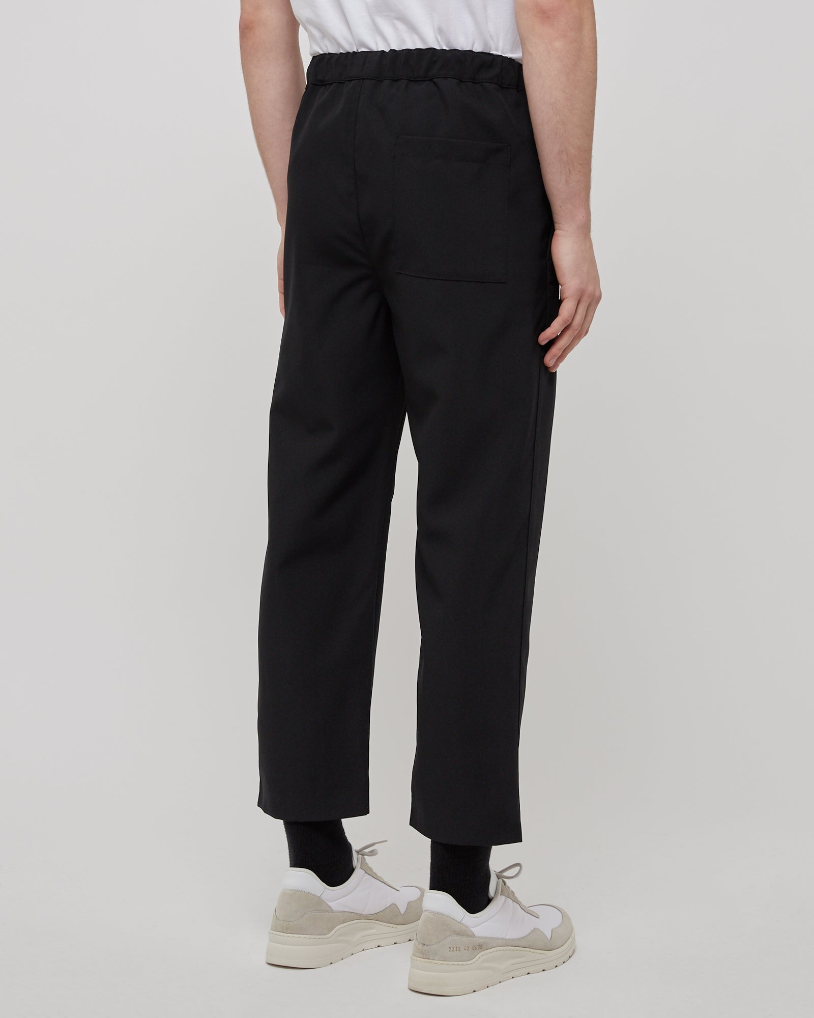Drawcord Pant in Black