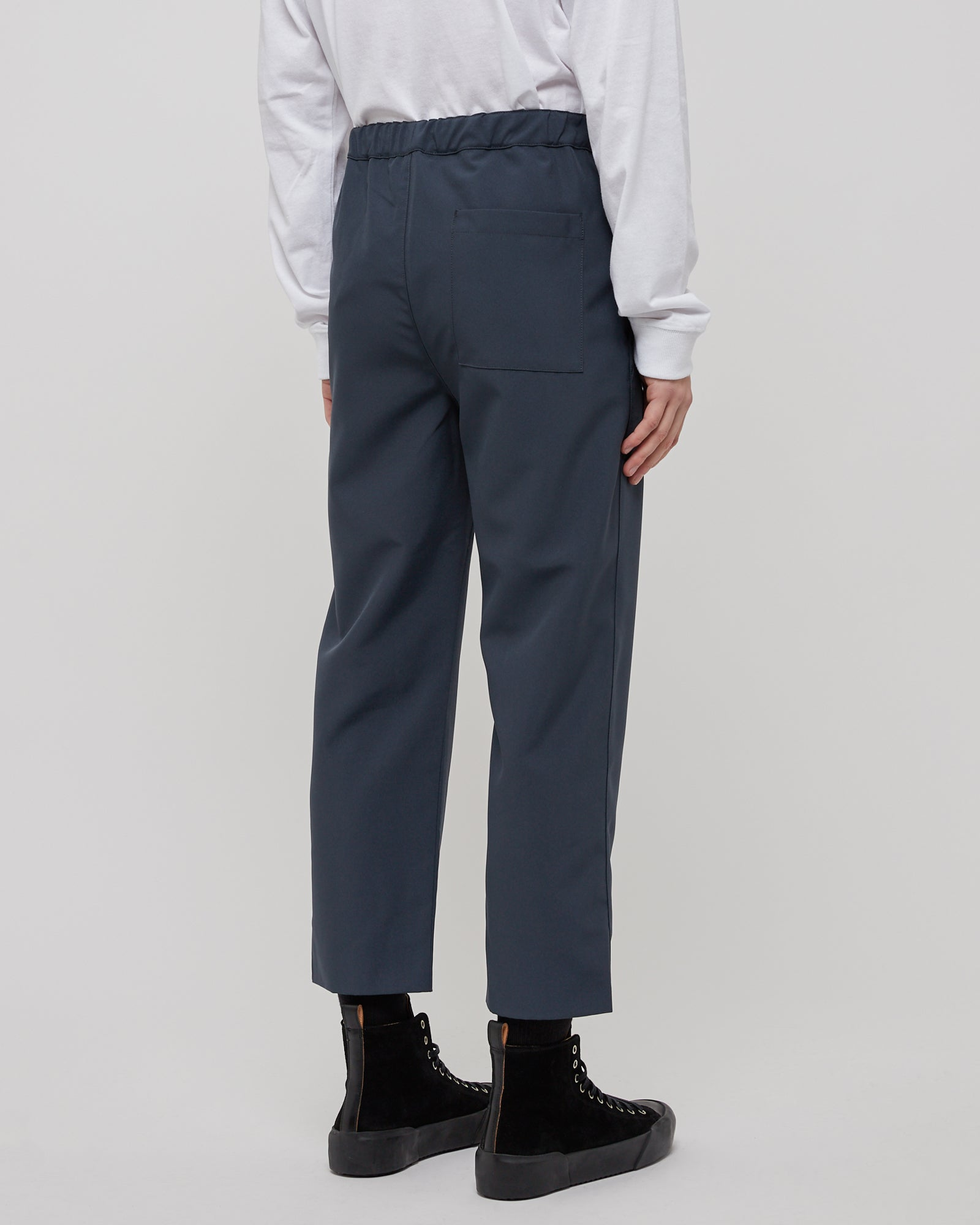 Drawcord Pant in Charcoal Blue