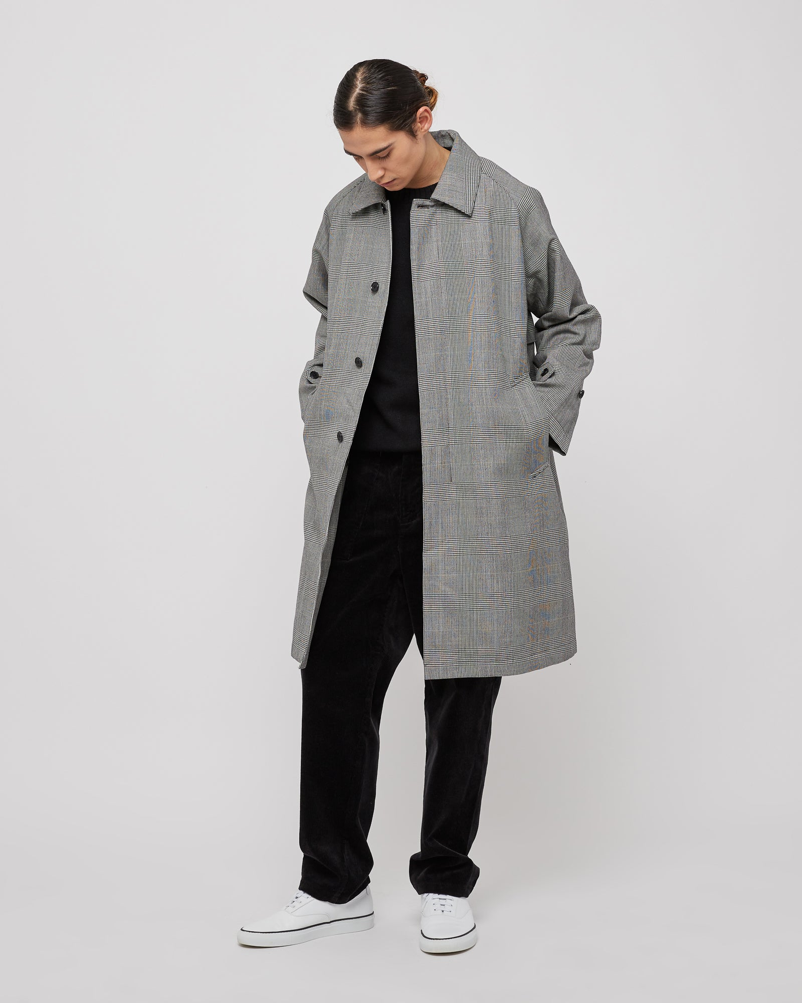 Original Bal Collar Coat in Gray Check