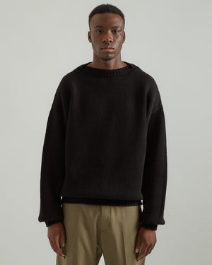 Overlapped Sweater in Black