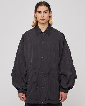 Oversized Coach Jacket in Black