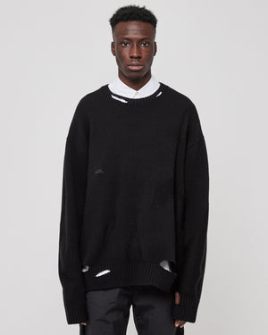 Oversized Destroy Jumper in Black