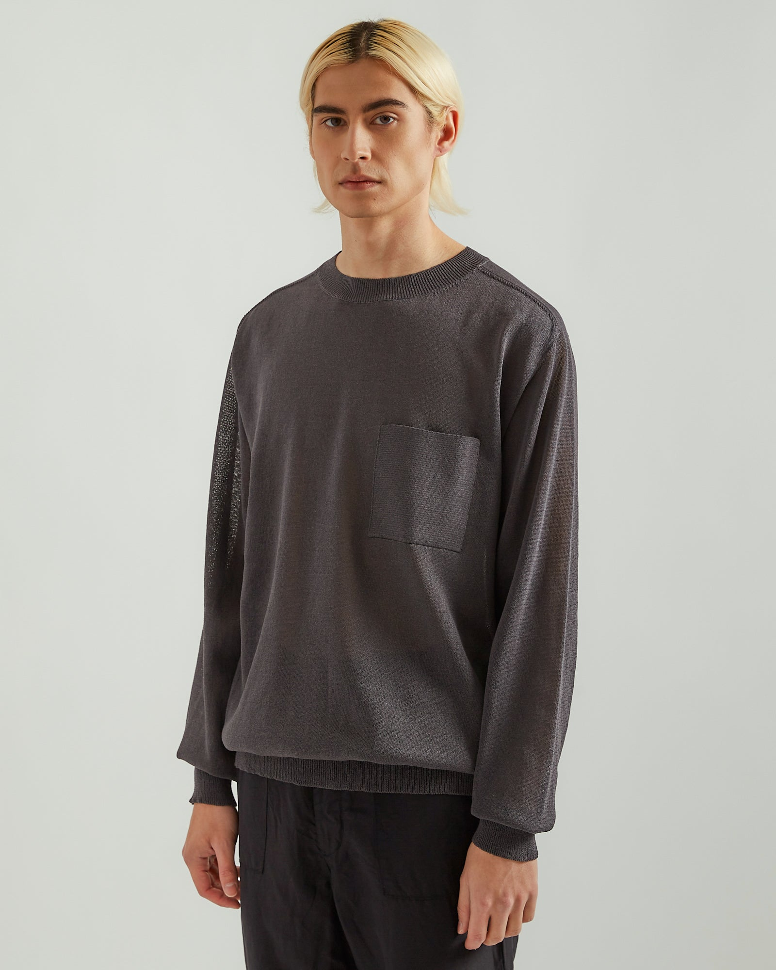 Paper Blend Sweater in Charcoal