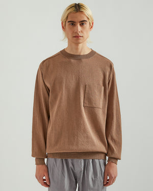 Paper Blend Sweater in Light Brown