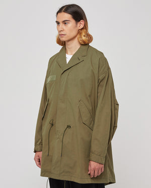 Patch Trench Coat in Khaki