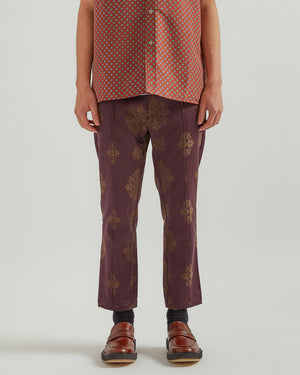 Permapress Slim Trouser in Purple