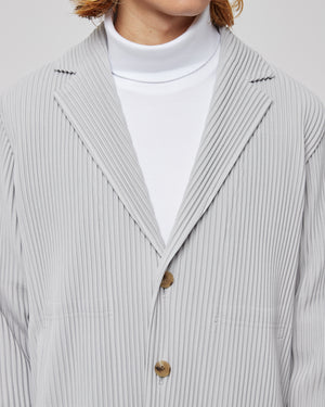 Pleated Blazer in Gray
