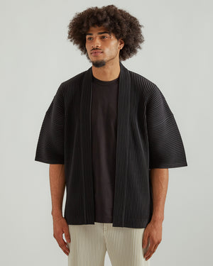 Pleated Kimono in Black