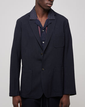 Liam Wool Blazer in Blue