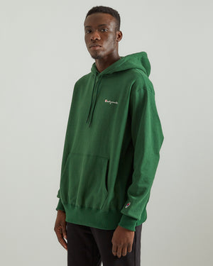 Pullover Cotton Hoodie in Green