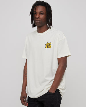 101 T-Shirt in White/Abstract Yellow