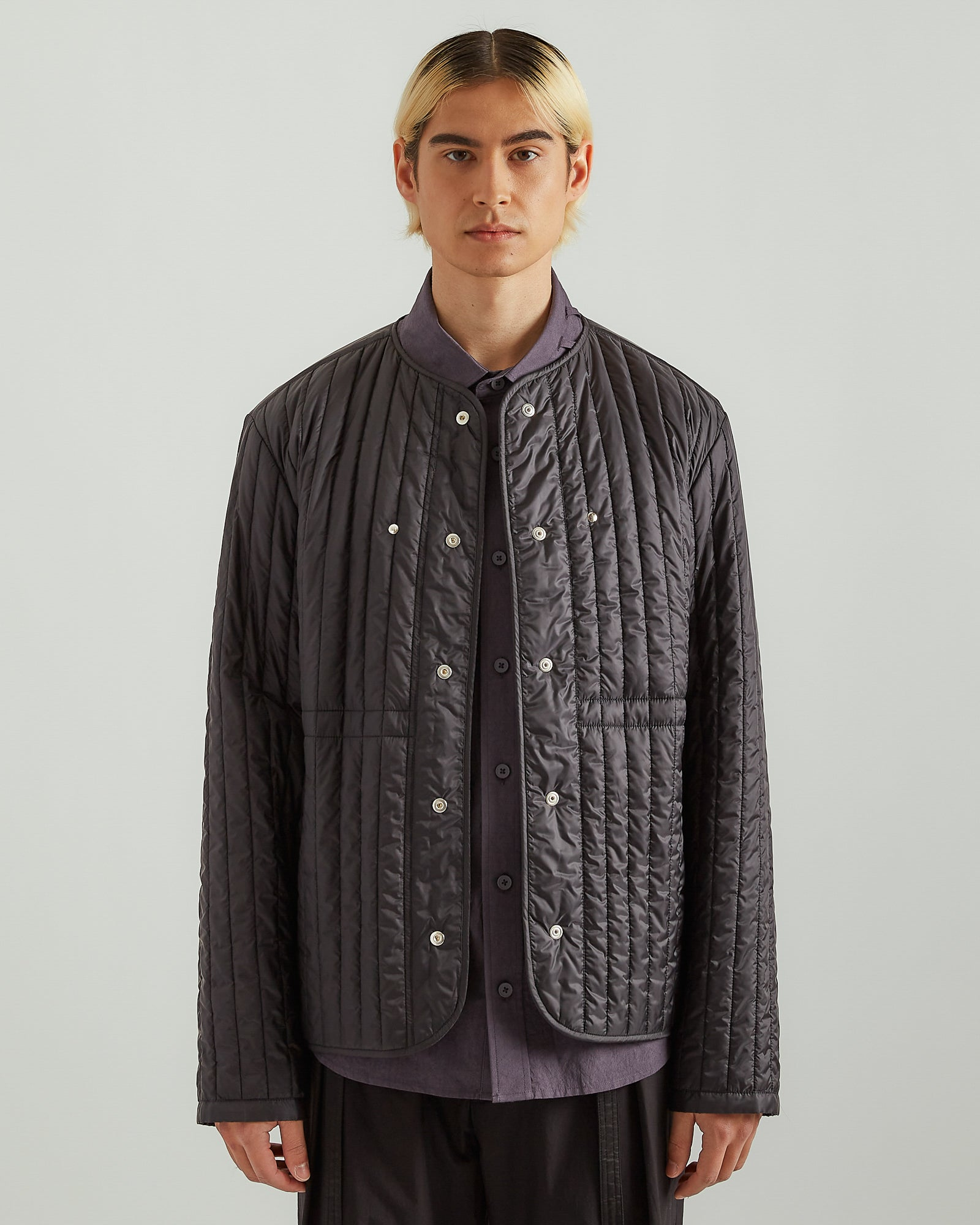 Quilted Liner Jacket in Black