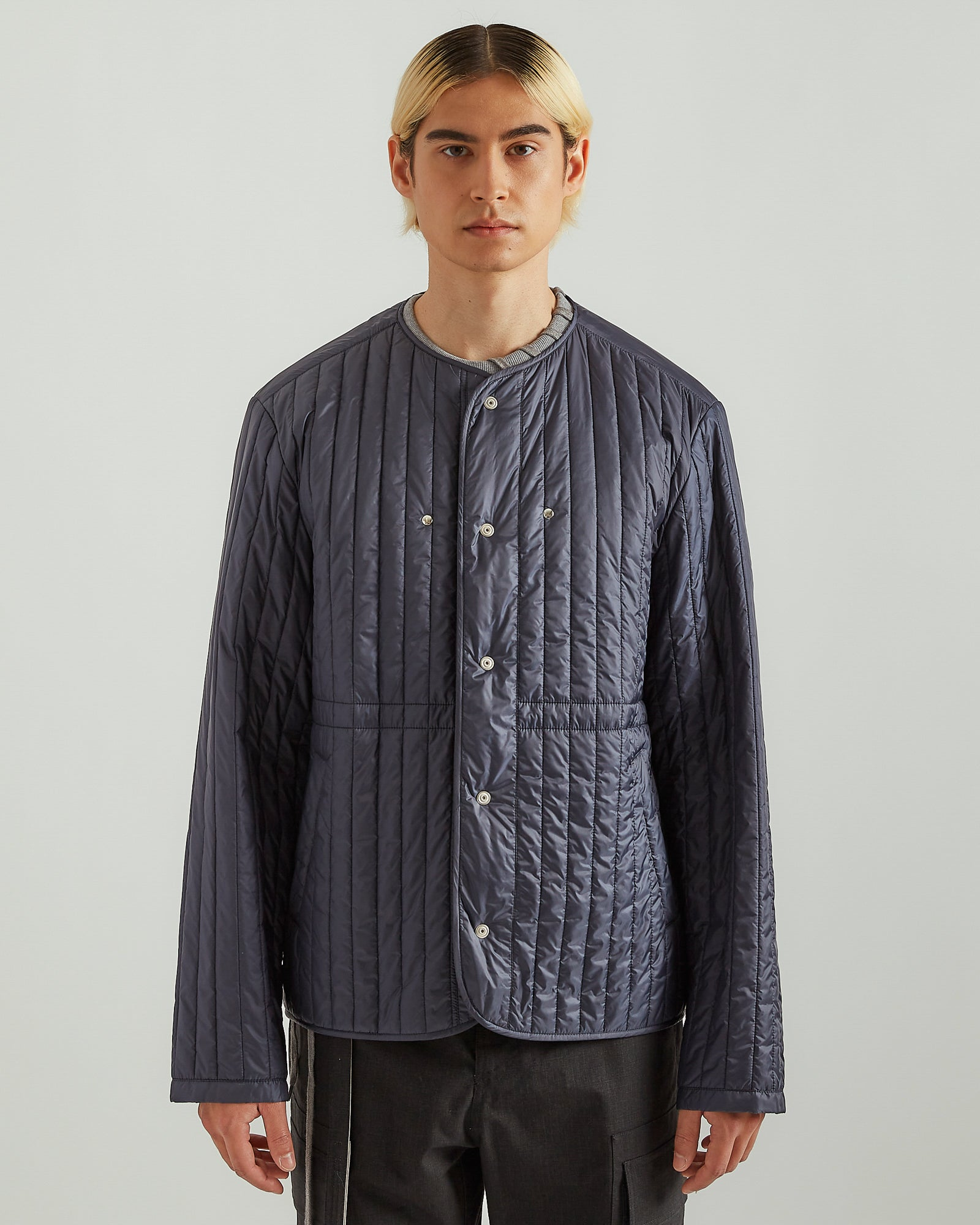 Quilted Liner Jacket in Navy