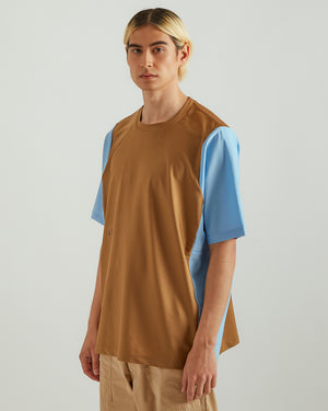 Rebuilt T-Shirt in Brown/Blue