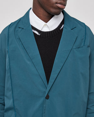 Rhombus Badge Blazer in Atlantic
