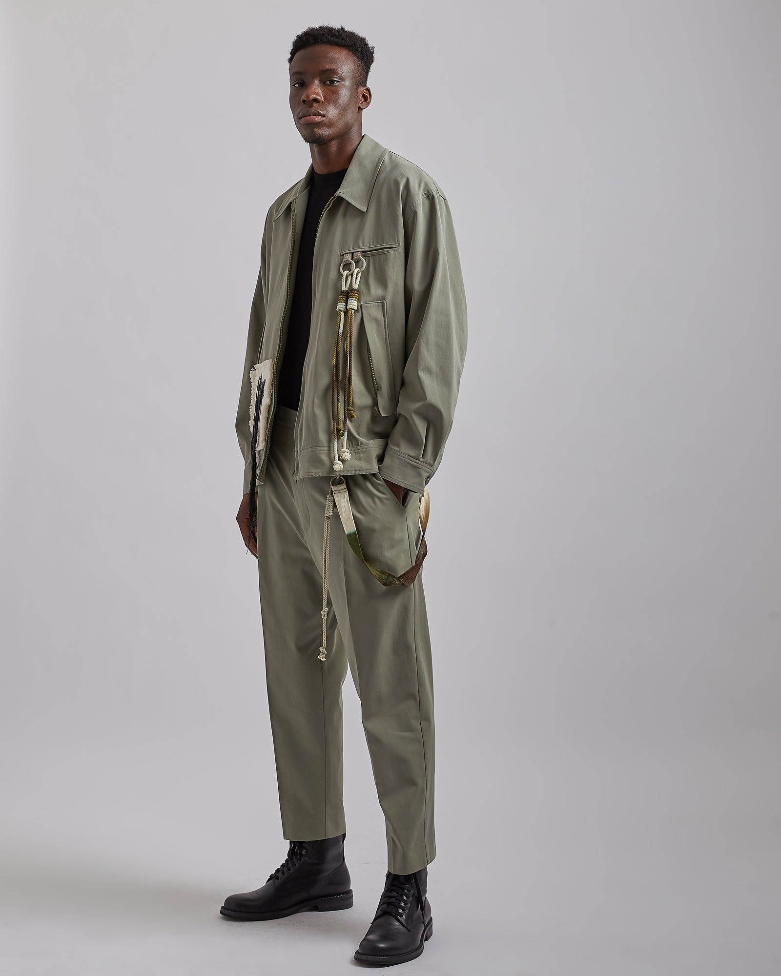 """Room"" Coach Jacket in Olive"