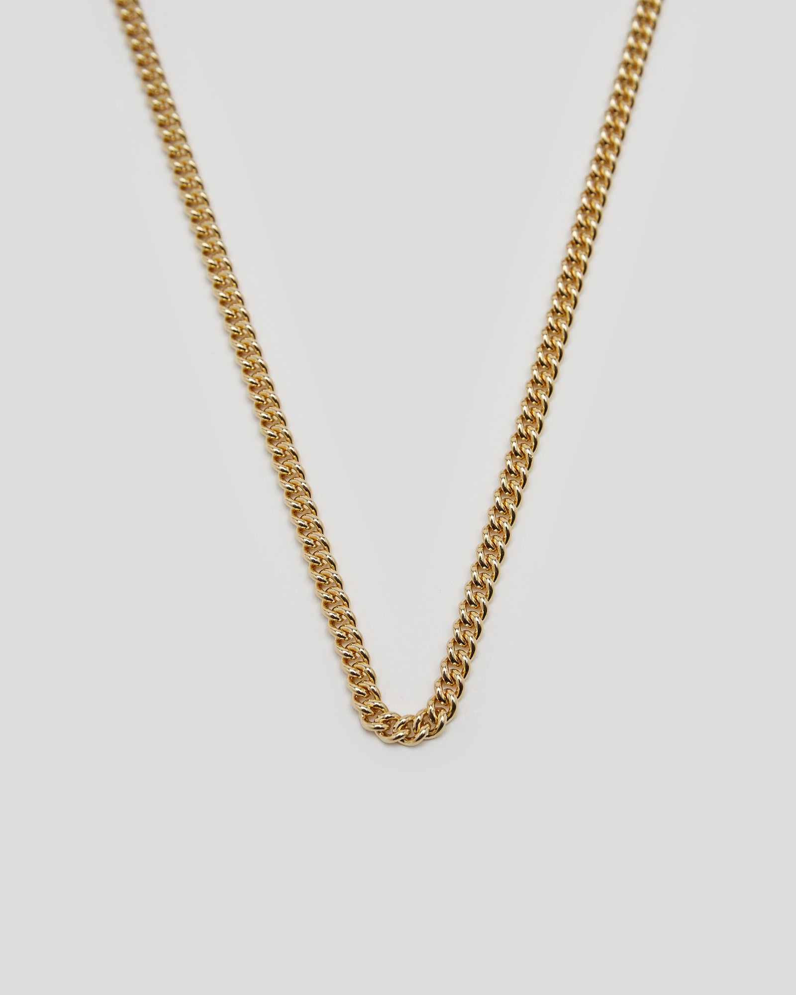 Rounded Curb Chain Thin in Gold