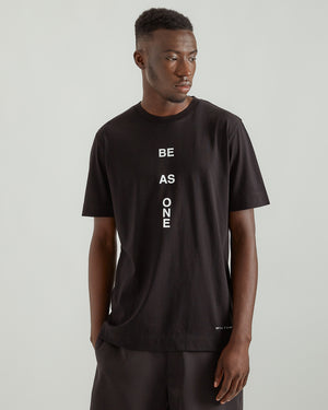 S/S Be As One T-Shirt in Black