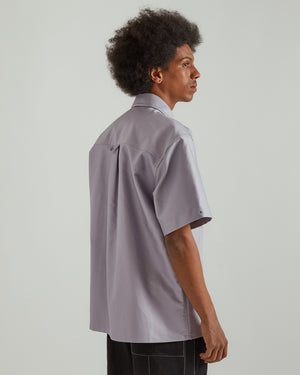 S/S Shirt With Pin in Medium Purple