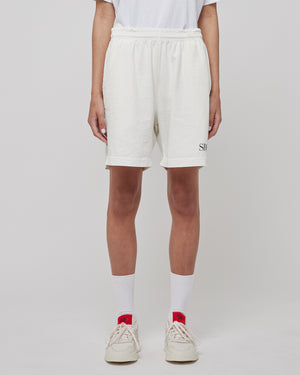 SRCNY Gym Short in White/Navy