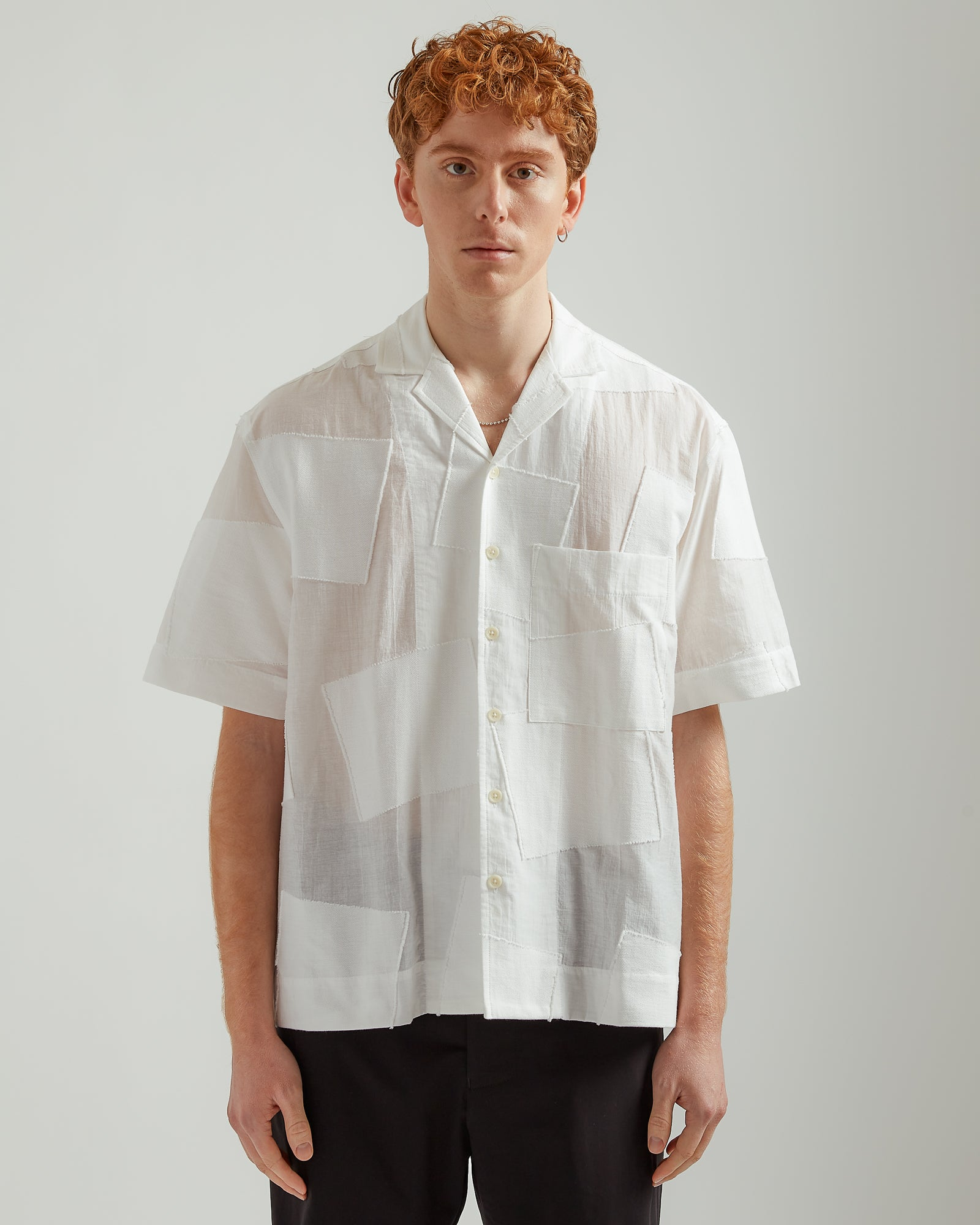 S/S Box Shirt in White