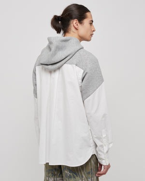 Hoodie Shirt in Gray and White