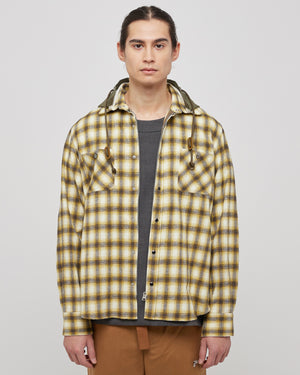 Ombre Check Hoodie in Yellow