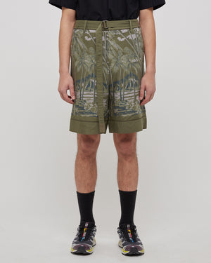 Sun Surf Diamond Shorts in Green