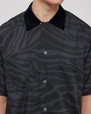 Zebra Print Shirt in Gray/Black