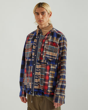 Hank Willis Thomas Edition Flannel Mix Blouson in Multi