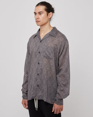 Seville Shirt in Gray Paisley