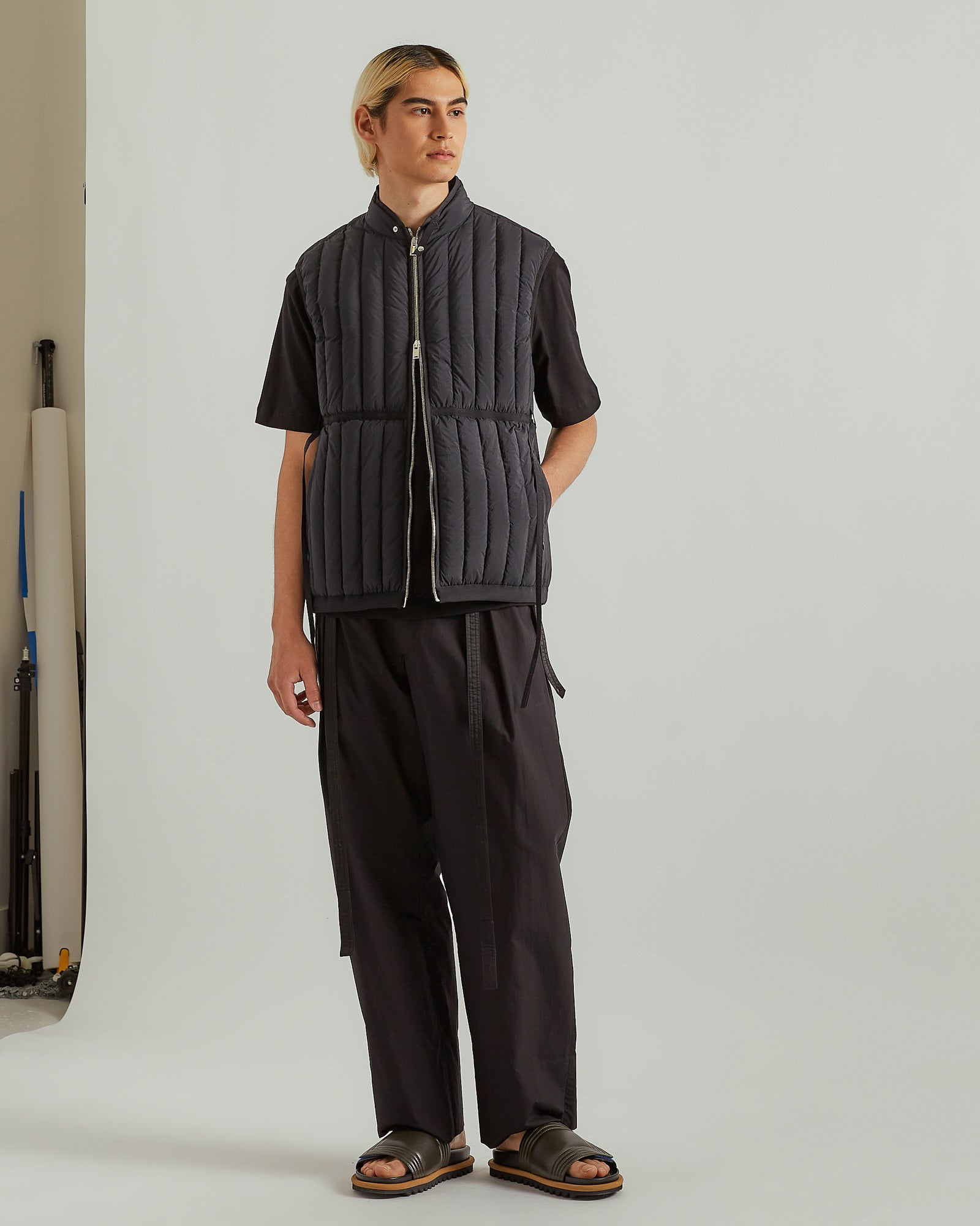 Single Pleat Trouser in Black