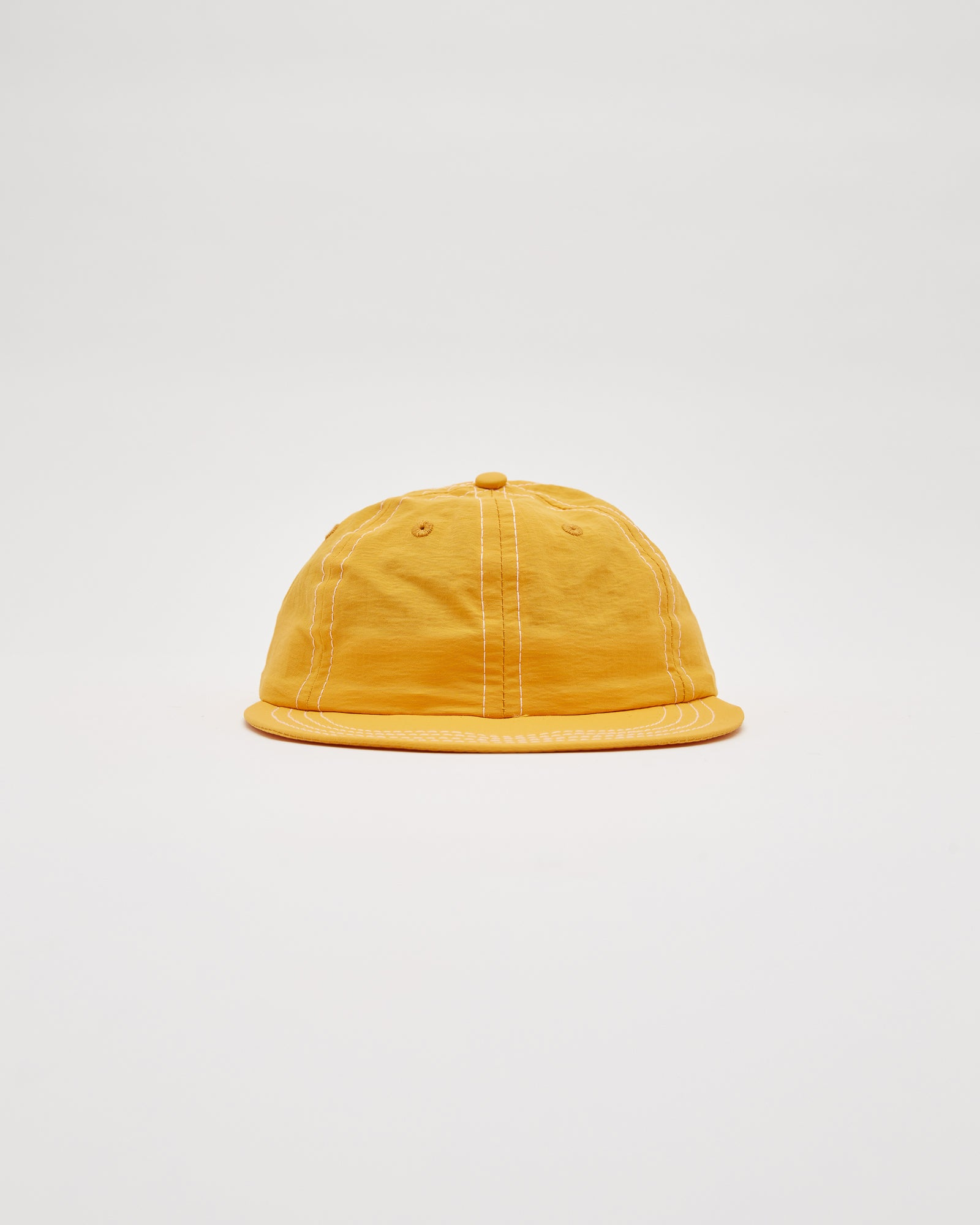 Six Panel Contrast Stich Cap in Lemon/Spruce