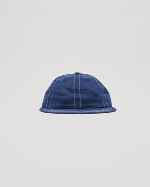 Six Panel Contrast Stich Cap in Spruce/Lemon