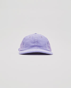 Six Panel Corduroy Cap in Lavender