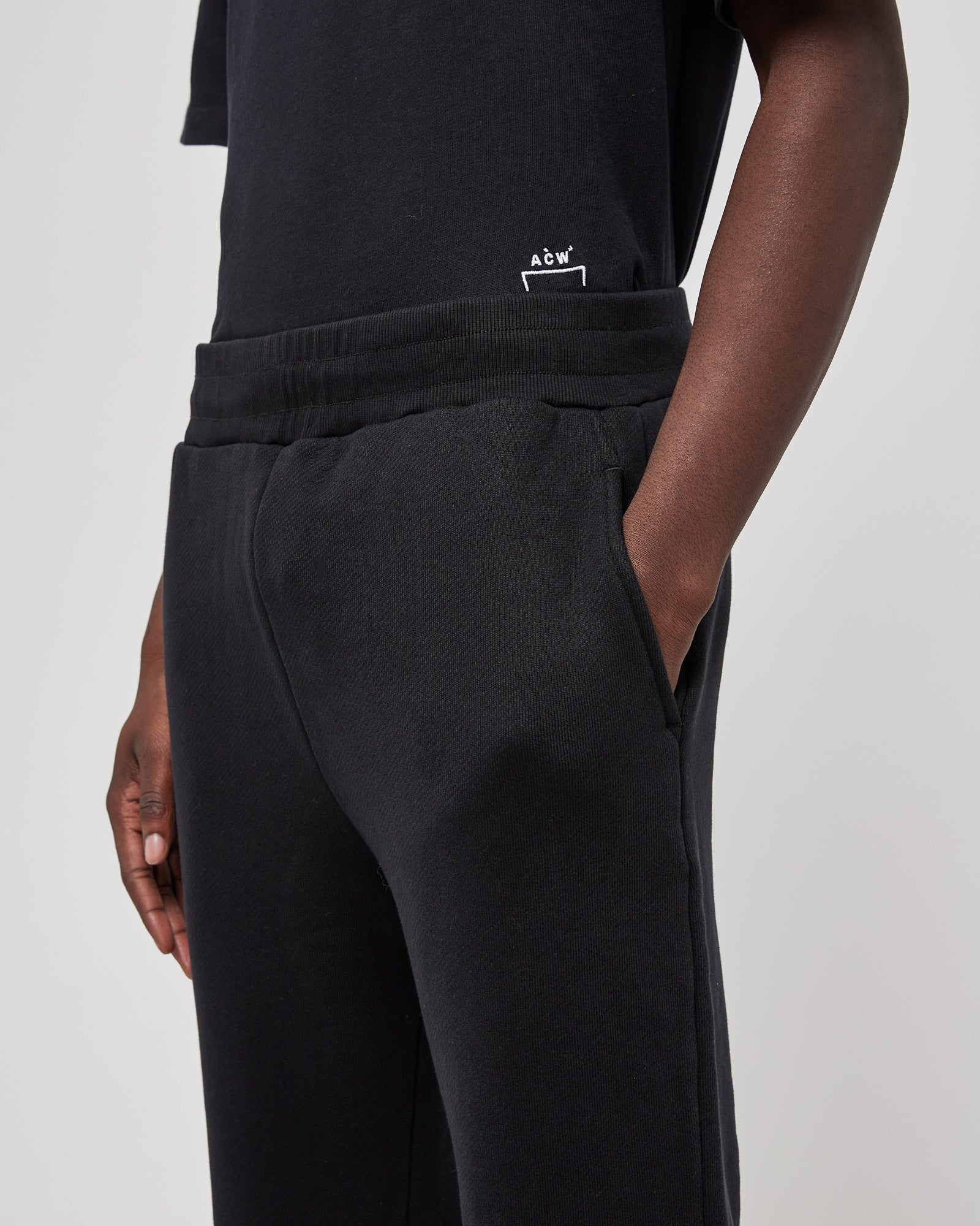 Slim Fit Bracket Pants in Black
