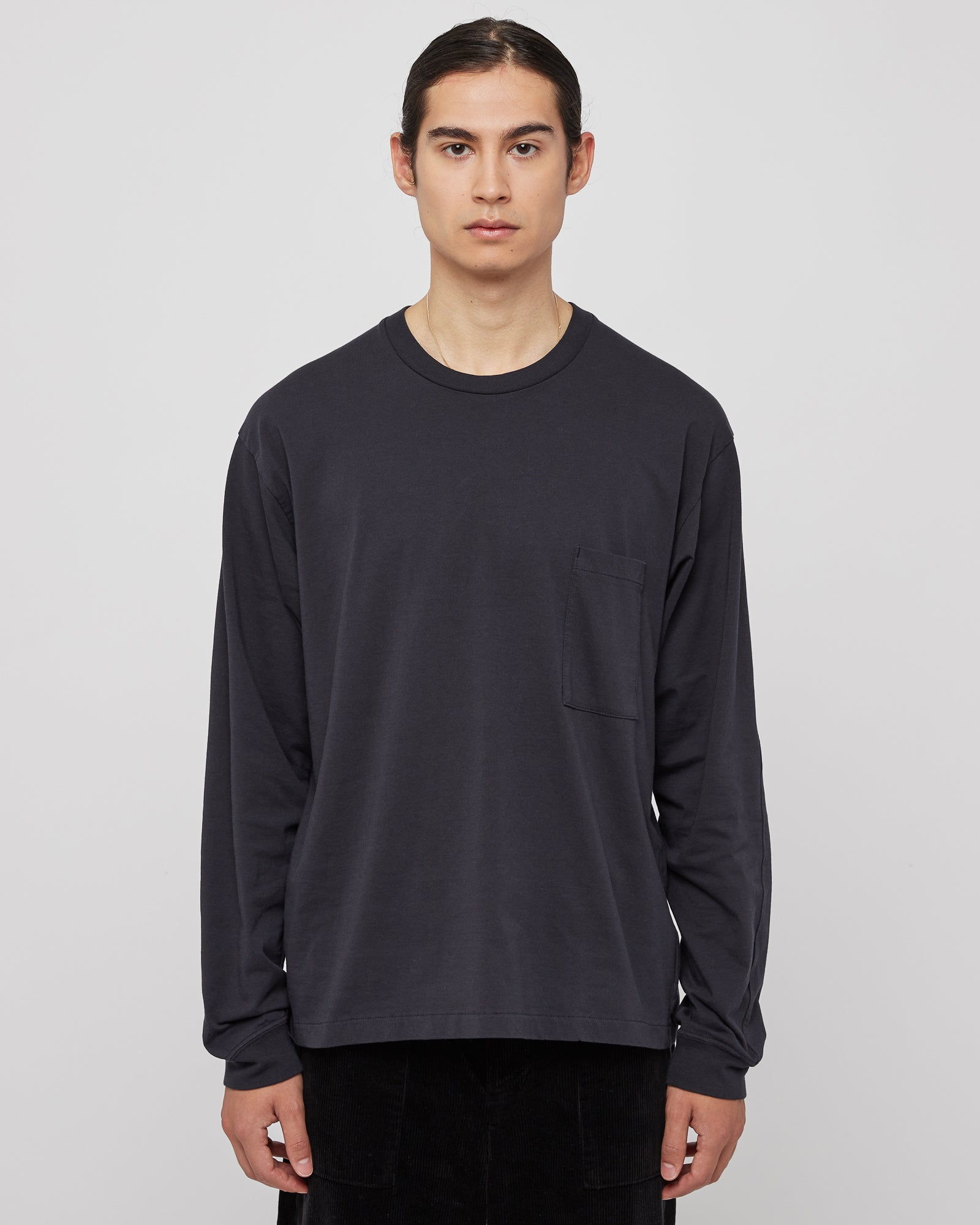 Slim Pocket Long Sleeve in Navy