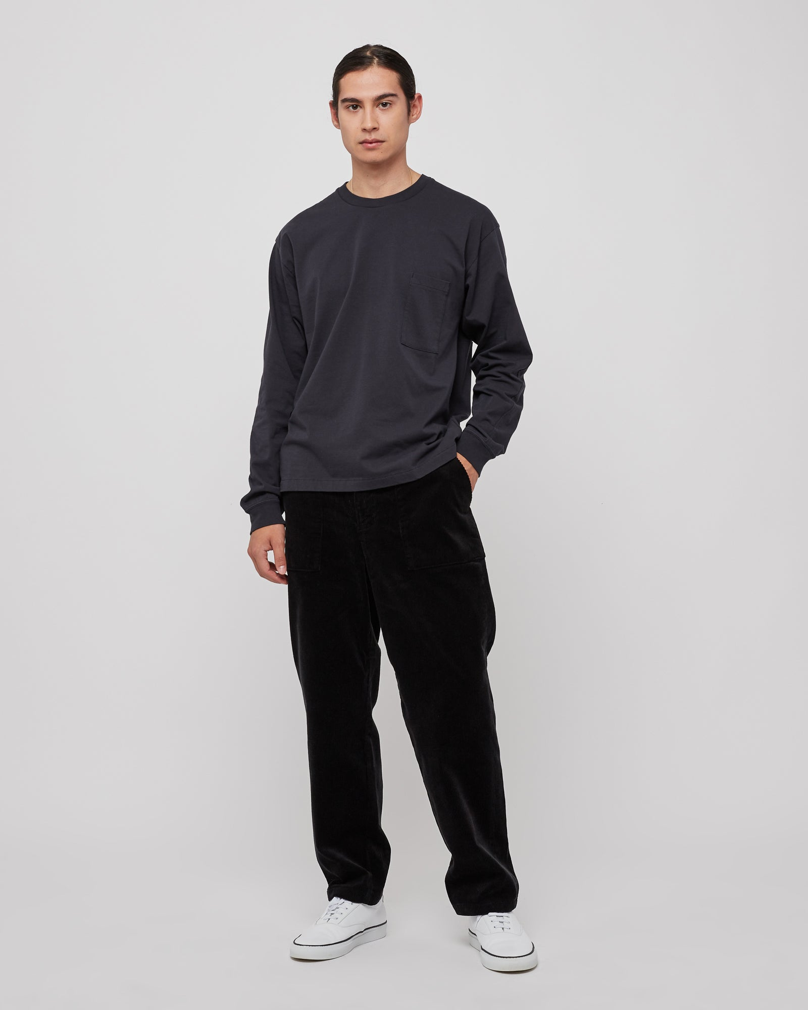Corduroy Baker Pants in Black