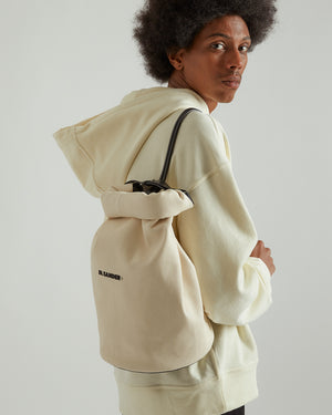 Small Roll Duffle Bag in Light Beige