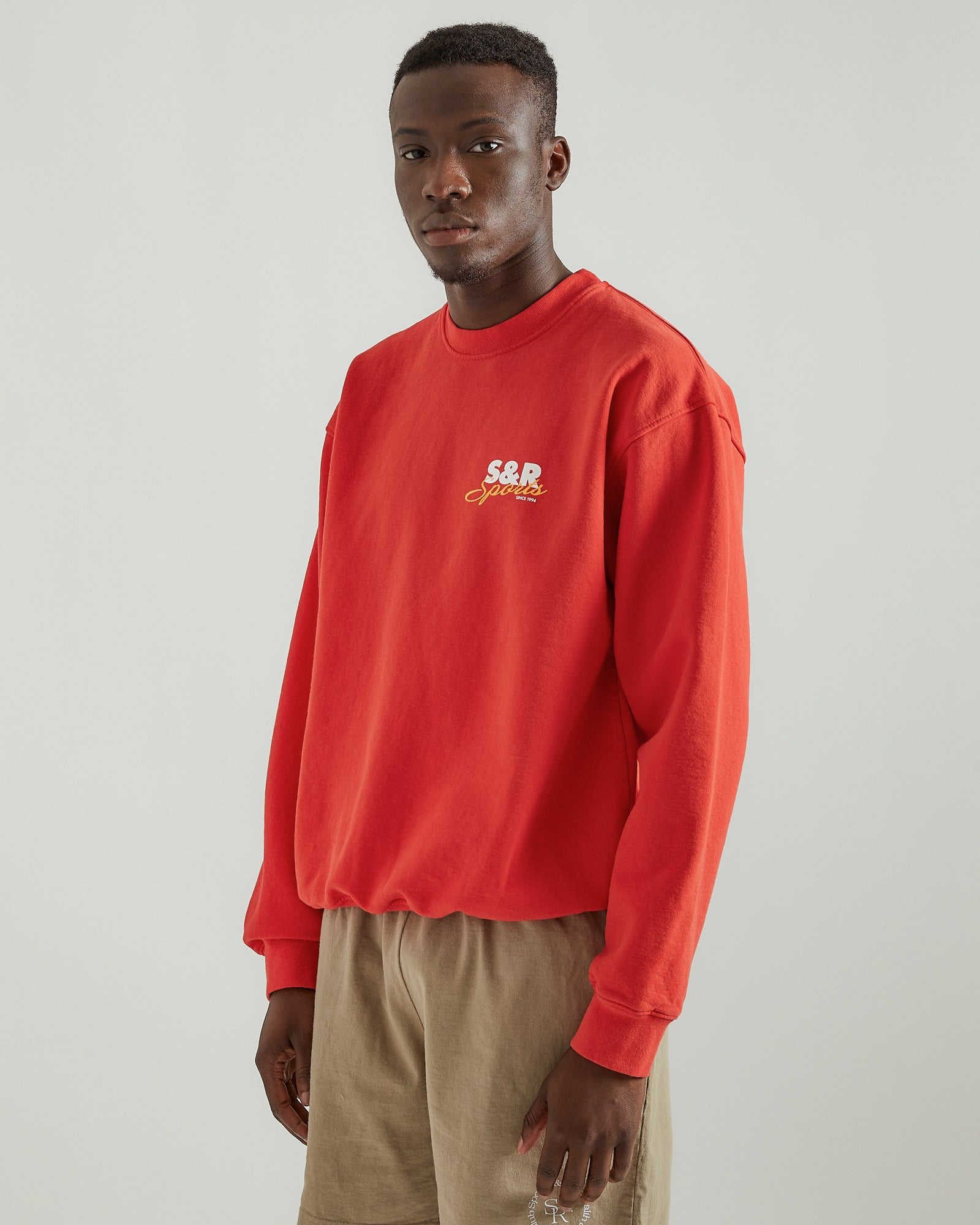 S&R Sports Crewneck in Cherry