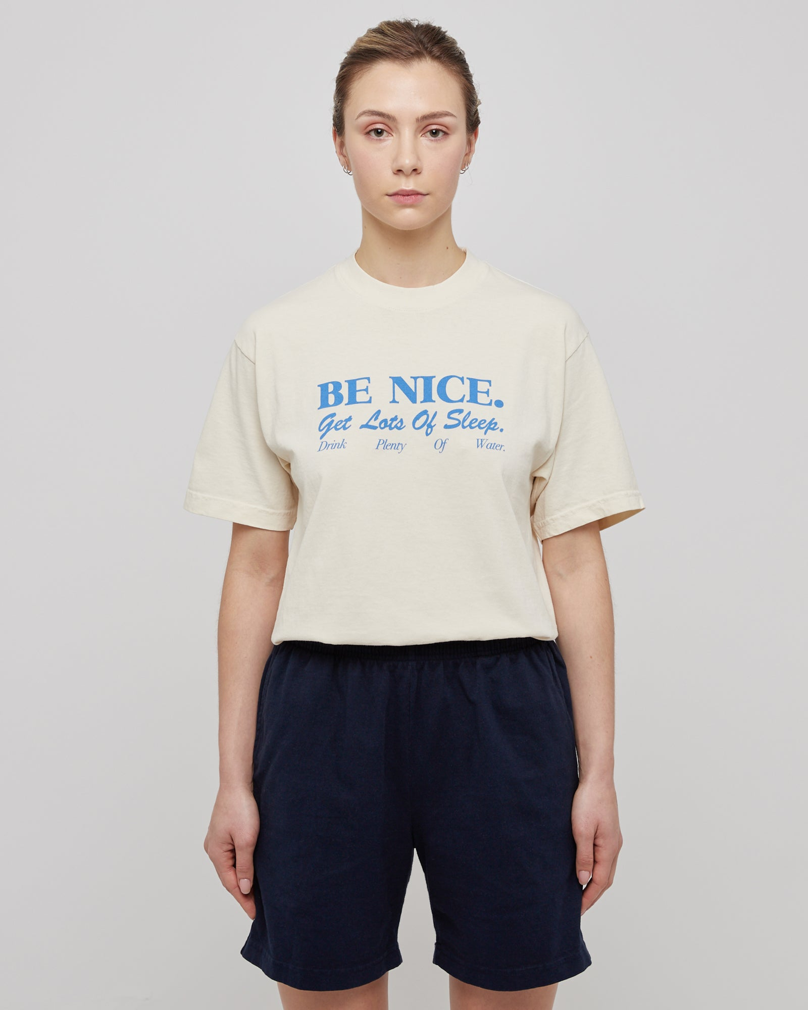 Be Nice T-Shirt in Cream