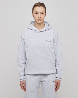 Classic Logo Hoodie in Heather Gray