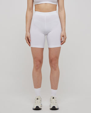 Wellness Biker Short in White