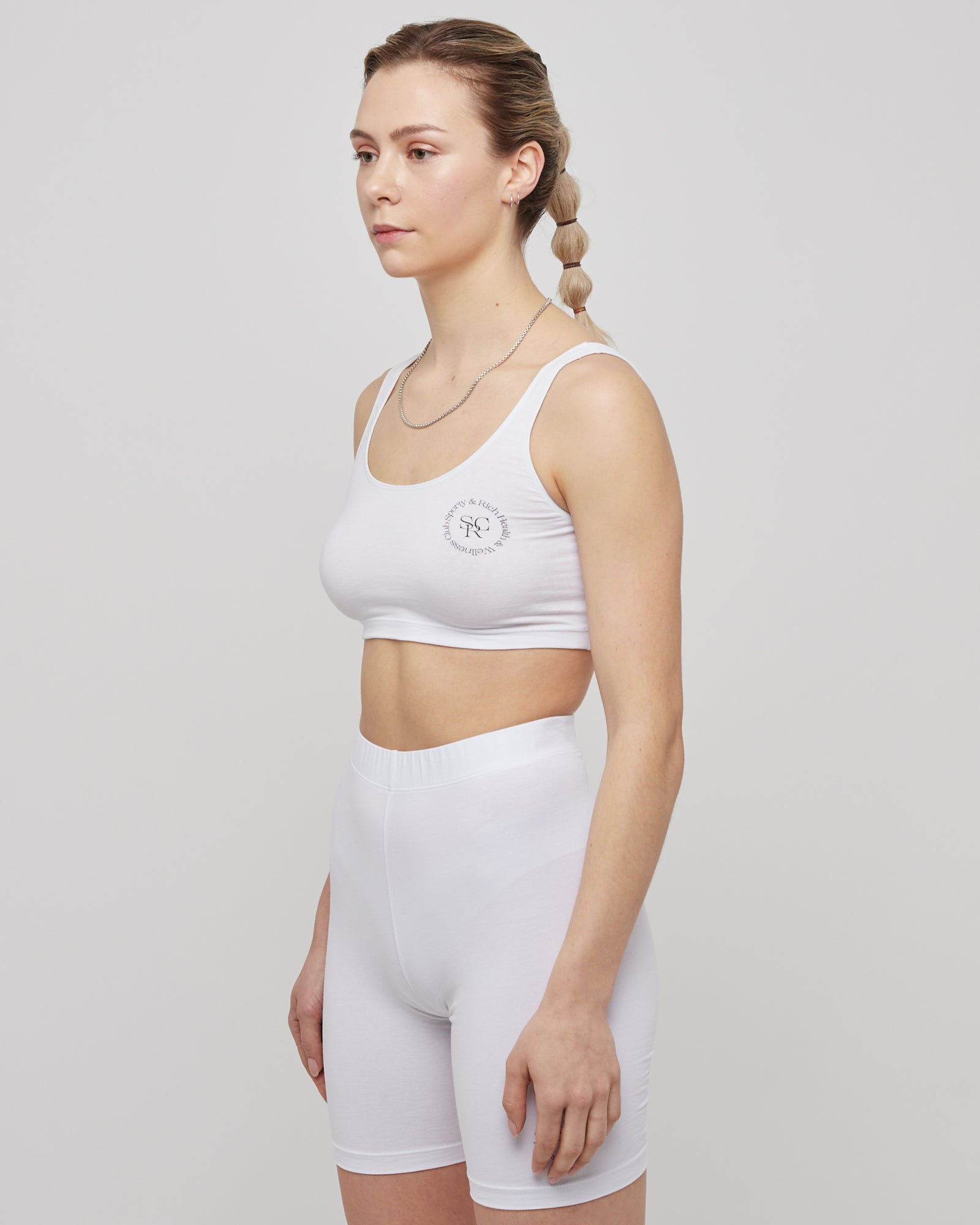 Wellness Cropped Tank in White