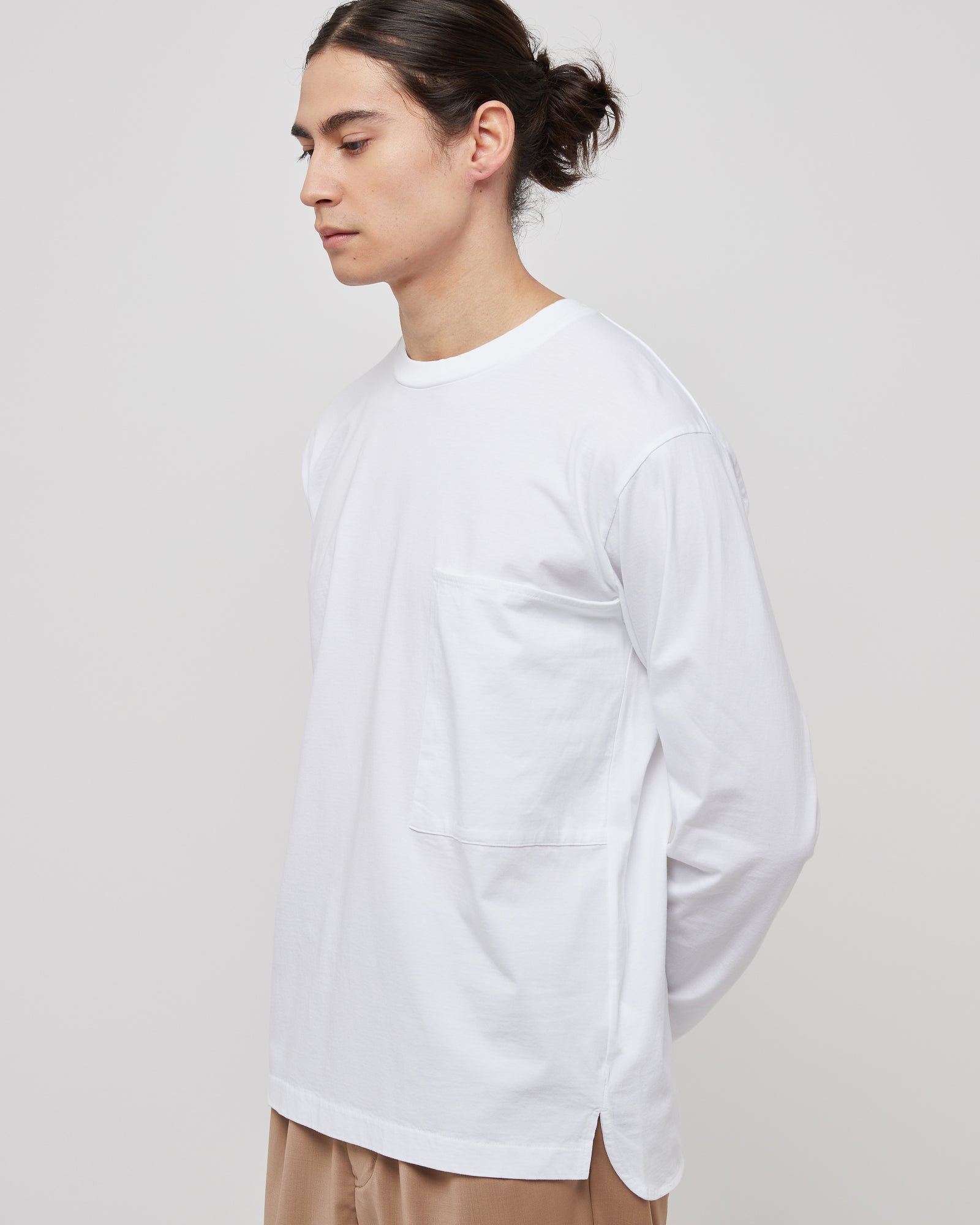 L/S Large Pocket Shirt in Off White